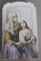 イタリア ご絵 CLARA 29 12.5×7.5センチ 大判飾り縁箔押し 紙裏白