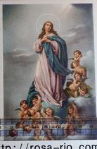 ご絵 手判 聖母被昇天 C-63 14×9センチ 紙裏白