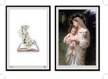 イタリア A6-2聖母子羊 葬儀ご絵カード  聖母子羊Divine Innocence A6 105mm×148mm(2つ折り 74mm×53mm 手のひらサイズ)イタリア製