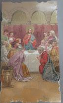 イタリア ご絵 Eucaristina 023 10.7×6センチ 飾り縁箔押し 紙裏白