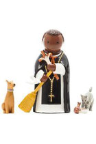 LDW 185016YX Saint Martin Porres statue 聖マルチン デ ポレス