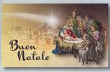 FB NATALE イタリア 新作クリスマスご絵カード&封筒セット 8×13.5センチ裏白 封筒 9×14センチ 定型 408-2