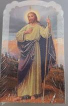 イタリア ご絵 CLARA 38 12.5×7.5センチ 大判飾り縁箔押し 紙裏白