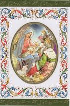 イタリア製 クリスマスカード 定型 聖家族と三賢人 220-21