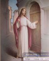 ご絵 大 ドアをたたくイエス 20×25㎝ 紙裏白