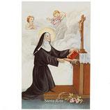 ご絵 イタリア 聖リタ 11×7センチ 紙裏聖リタの祈り