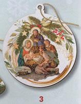FB NATALE イタリア製 オーナメント 聖家族 1384-3 8×9センチ