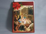 イタリア製 クリスマスカード 定型 聖家族0696-1