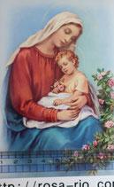 ご絵 手判 聖母子C C-48 14×9センチ 紙裏白