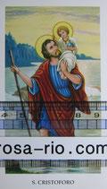 聖人ご絵 聖クリストファー イタリア祈り ご絵