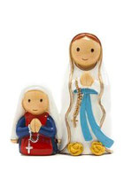 LDW 160023YX Lady of Lourdes Apparition statue ルルドの聖母と聖ベルナデッタ