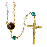 ファティマ21 歓迎のロザリオ  Devotional rosaries Welcoming Rosary with transparent glass beads 6 mm - Faith Collection 21/47