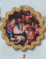 FB NATALE イタリア製 オーナメント 聖家族 1383-2 9×9センチ