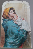 イタリア ご絵 CLARA 32 12.5×7.5センチ 大判飾り縁箔押し 紙裏白