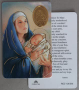 イタリア プラ箔押しカード RCC 126  8.3×5.5センチ 裏面英語祈り