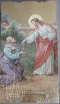 イタリア ご絵 Eucaristina 聖ペトロ 032 10.7×6センチ 飾り縁箔押し 紙裏白