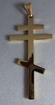 ペンダント 正教 金色 シンプルクロス6×3センチ チェーン50センチ
