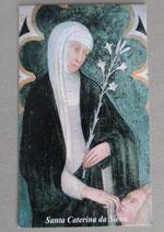 イタリア シエナの聖カタリナ シエナ 大聖堂祈りカード  1910-79
