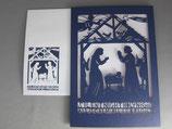 アメリカ 大判 切り絵聖家族クリスマスカード
