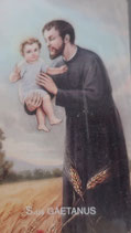 イタリア ご絵 RENI 聖ガエタノ 1232 10×6センチ 紙裏白