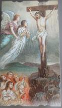 イタリア ご絵 Eucaristina 033 10.7×6センチ 飾り縁箔押し 紙裏白