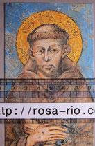 聖人御絵 イタリアアッシジ アッシジの聖フランシスコ大判 12×7
