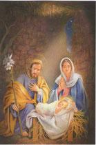 イタリア製 クリスマスカード 定型 聖家族 220-14