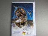イタリア製 クリスマスカード 定型 聖家族ブルー C1625