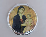 ネコポス不可 イタリア シエナ 聖母子(大聖堂) コンパクトミラー  1910-70
