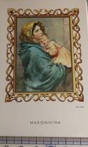 ご絵 絵画 MADONNINA B-14 11,5×6.7センチ 紙裏白