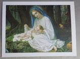 イタリア ジェズ教会 聖母子ご絵 10×7.5センチ