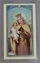 パウチカードイタリア 2366 Holy card, Our Lady of Mount Carmel, Prayer ITA, 10x5 cm