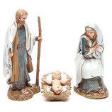 イタリア Moranduzzoによる聖家族10cm、歴史的な衣装