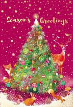 いのちのことば社 59226 クリスマスカード AX280-49  動物 ツリー