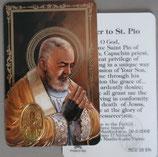 イタリア プラ箔押しカード RCC 23  8.3×5.5センチ 裏面英語祈り