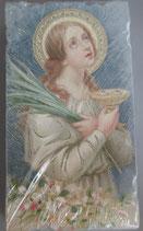 イタリア ご絵 Eucaristina 聖ルシア 027 10.7×6センチ 飾り縁箔押し 紙裏白