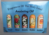 ネコポス不可 イスラエル 山上の垂訓教会 聖地の祈りのための香油 5種セット 1910-113