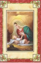 イタリア製 クリスマスカード 定型 聖家族 220-17