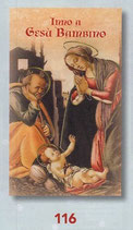 FB  NATALE   イタリア製 金箔押ご絵 裏イタリア語祈り 7×12センチ 272ー116