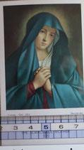 ご絵 絵画 悲しみの聖母 THE MADONNA OF FINGER A-8 10.5×6センチ