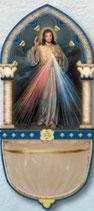 イタリア FB ご絵聖水盤  686-11 いつくしみのイエス