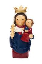 LDW 165532YX  Notre Dame de Paris statue  ノートルダムの聖母子