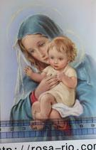ご絵 手判 聖母子F C-51 14×9センチ 紙裏白