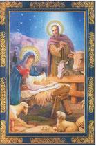 イタリア製 クリスマスカード 定型 聖家族 220-7