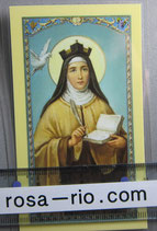イタリア パウチご絵  アビラの聖テレサ 11、5×7センチ