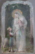 イタリア ご絵 CLARA 23 12.5×7.5センチ 大判飾り縁箔押し 紙裏白
