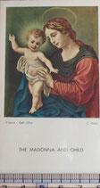 ご絵 絵画 THE MADONNA AND CHILD A-21 10.5×6センチ 紙裏白