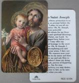 イタリア プラ箔押しカード RCC 12  8.3×5.5センチ 裏面英語祈り