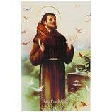 イタリア アッシジの聖フランシスコ 祈りカード イタリア語 高さ11cm 幅7cm SA002078