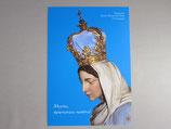 イタリア カラヴァッジョの聖母 ご絵 ハガキサイズ青